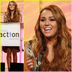 Miley Cyrus: Global Action Award Recipient!