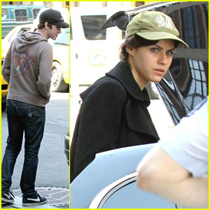 Logan Lerman & Alexandra Daddario: Easter in New York!