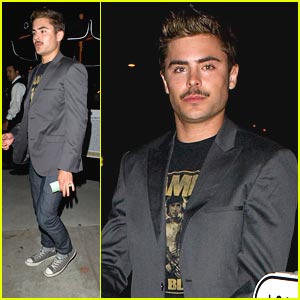 Zac Efron: Mustache for Coachella!