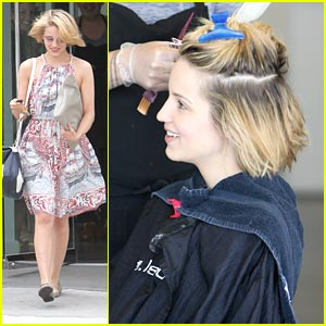 Dianna Agron Chops Her Hair!