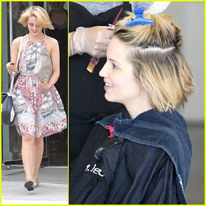 Dianna Agron Chops Her Hair!