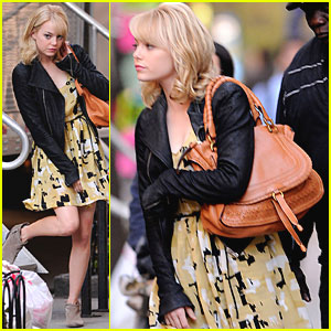 Emma Stone: Filming 'Spider-Man' in NYC!