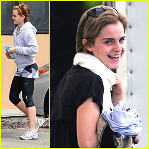 Emma Watson: Movie & Workout Weekend