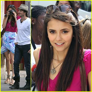 Nina Dobrev: Paris Picture Taker