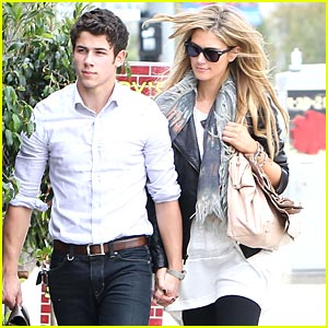 Nick Jonas & Delta Goodrem: Holding Hands at Henry's Hat