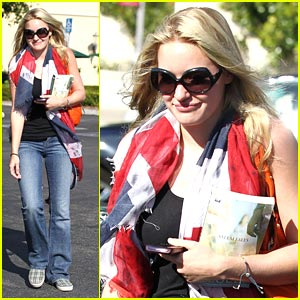 AJ Michalka Wears The Union Jack