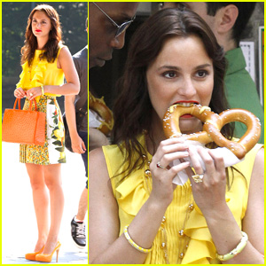 Leighton Meester: Big Pretzel Bite!