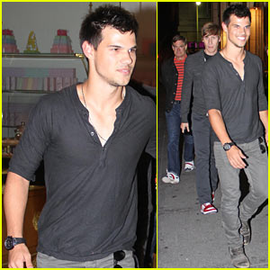 Taylor Lautner: Bottega Louie Buddies!
