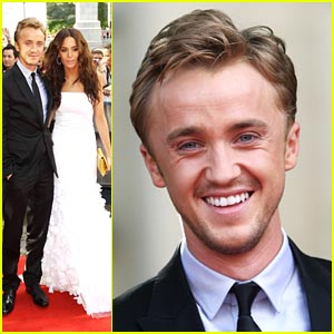 Tom Felton: 'Harry Potter' Premiere with Jade Olivia!