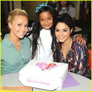 Vanessa Hudgens: 'Wave For Change' with Hayden Panettiere