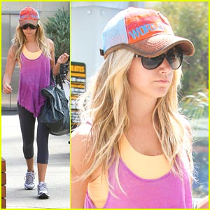 Ashley Tisdale: Up Early for Equinox