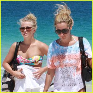 Ashley Tisdale & Julianne Hough: Beach Babes!