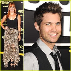 Drew Seeley & Amy Paffrath: '30 Minutes or Less' Premiere Pair