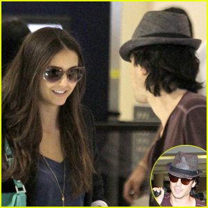 Nina Dobrev & Ian Somerhalder: LAX Lovebirds