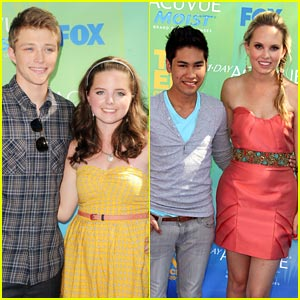 Sterling Knight & Meaghan Martin: Acuvue Winners at Teen Choice Awards!