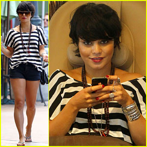 Vanessa Hudgens: Salon Stop with Mom!