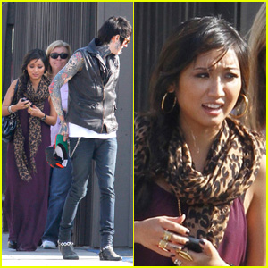 Brenda Song: Lunch With Trace Cyrus' Family