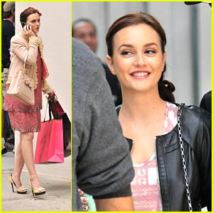 Leighton Meester: Moschino in Manhattan