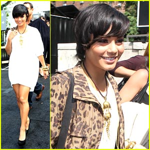 Vanessa Hudgens: Fashion's Night Out Carnival Hostess!