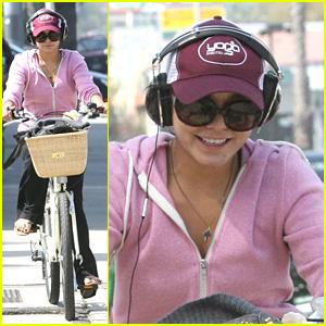 Vanessa Hudgens: Pink Bike Beauty