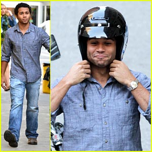 Corbin Bleu: Motorcycle Man!