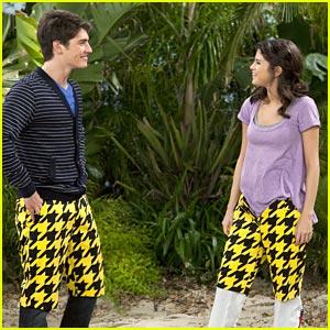 Selena Gomez & Gregg Sulkin: Checkered Pants Pair