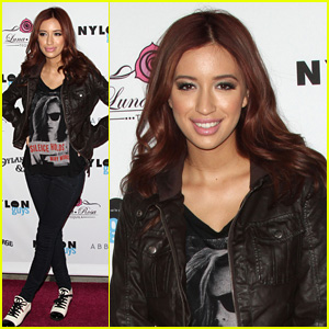 Christian Serratos: 'Nylon Guys' November Issue Party!
