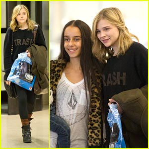 Chloe Moretz: Home for the Holidays!