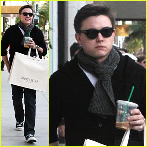 Jesse McCartney Shops at Jimmy Choo
