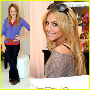 Katie Leclerc & Cassie Scerbo: InStyle Beauty Lounge Ladies