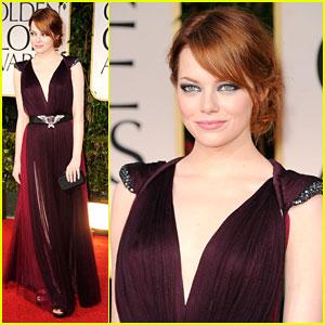 Emma Stone - Golden Globes 2012