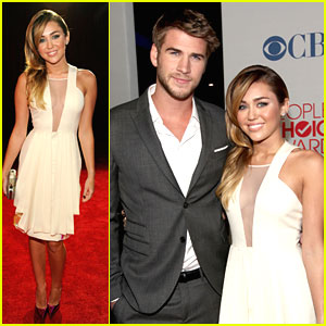 Miley Cyrus & Liam Hemsworth: People's Choice Awards Pair
