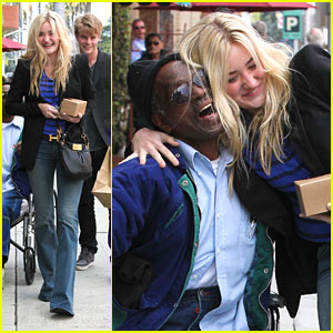 AJ Michalka: Hugs For the Homeless