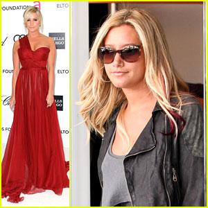 Ashley Tisdale: EJAF Oscar Party with Martin Johnson