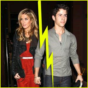 Nick Jonas & Delta Goodrem Split