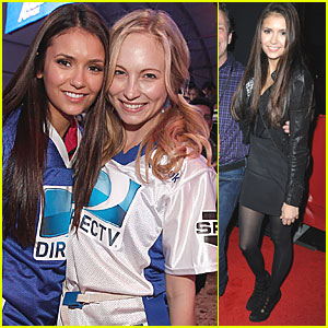 Nina Dobrev & Candice Accola: Celebrity Beach Bowl!