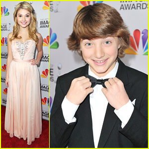 Stefanie Scott: NAACP Image Awards 2012 with Jake Short!