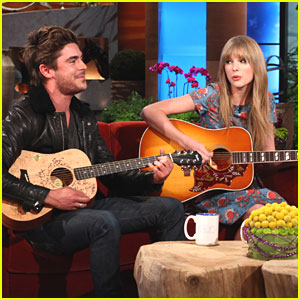 Zac Efron & Taylor Swift Sing a Song for Ellen