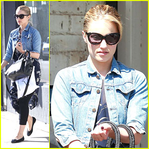 Dianna Agron Shops Around Reformation