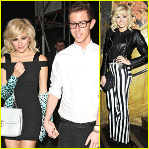 Pixie Lott: Striped Pants Pretty at 'Wild Bill' Screening!