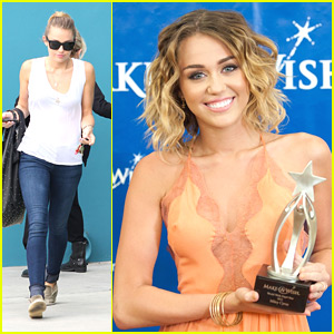 Miley Cyrus: World Wish Day Star Award Recipient!