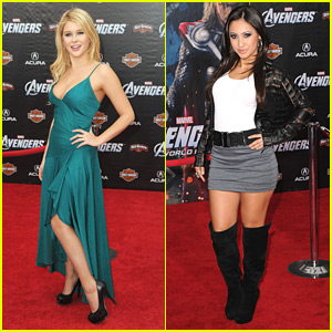 Francia Raisa & Renee Olstead: 'The Avengers' Premiere Pretty