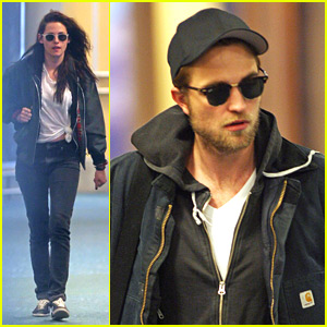 Robert Pattinson &#038; Kristen Stewart Arrive For 'Breaking Dawn Part 2' Re-Shoots