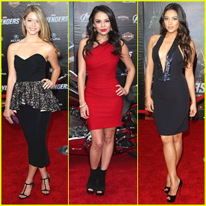 Shay Mitchell &#038; Janel Parrish: 'The Avengers' with Sasha Pieterse!