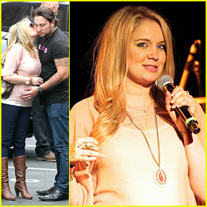 Tiffany Thornton: Cheek Kiss for Husband Chris