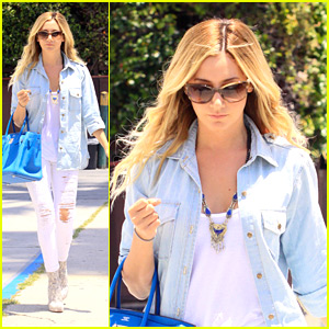 Ashley Tisdale Runs Around Robertson