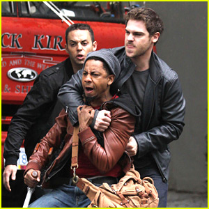Grey Damon & Brandon T. Jackson: 'Percy Jackson' Fight Scene