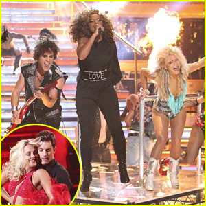 Julianne Hough & Diego Boneta: 'Rock of Ages' on DWTS! WATCH NOW