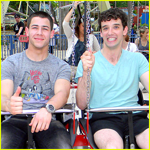 Nick Jonas: Six Flags with Michael Urie!