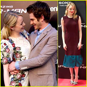 Emma Stone & Andrew Garfield: 'Spider-Man' Goes Spanish